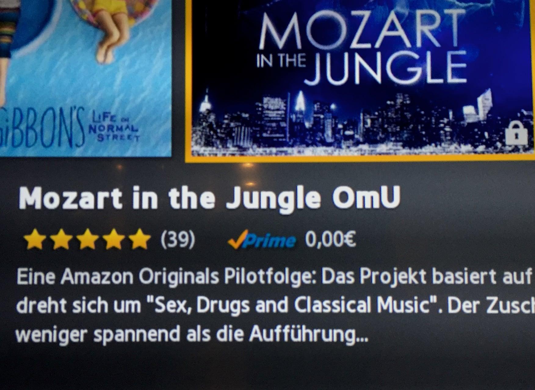 Markierung OmU an einem Film