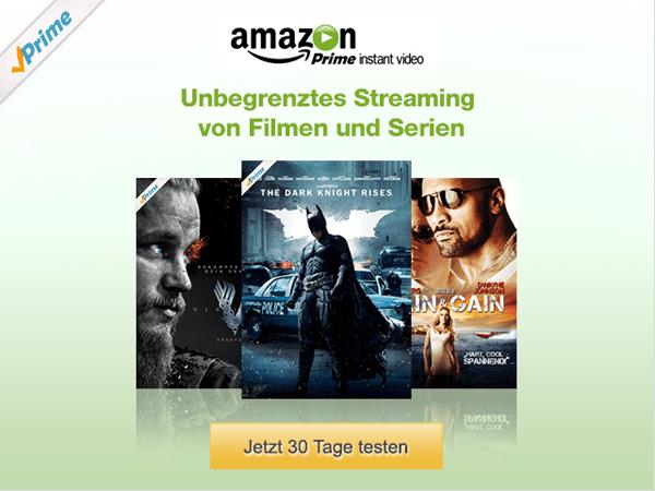 Amazon Instant Video 30 Tage lang gratis testen