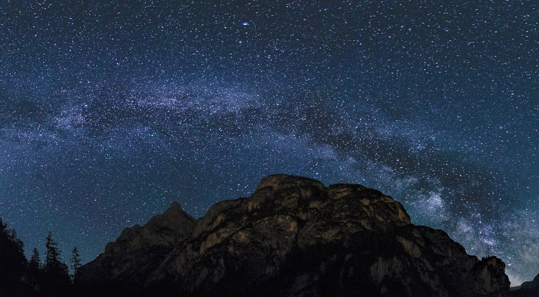 Milchstraße über den Dolomiten